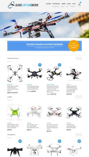 Drones Store Website - eCommerce + Amazon Affiliate