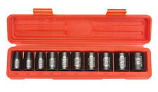 "TEKTON 4810 1/2"" Drive Shallow Impact Socket Set, 7/16""-1"", SAE, Cr-V, 10 Socket"