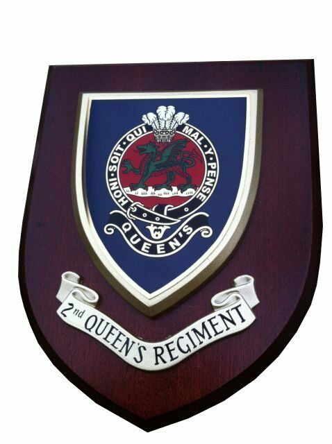 2nd Bn The Queens Regiment Wall Plaque Military