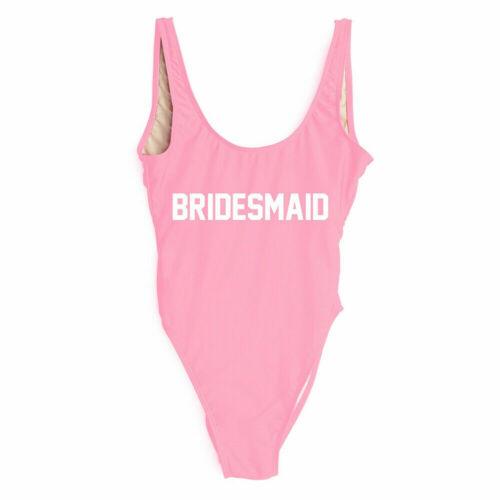 Ladies BRIDE SQUAD Badeanzug Brautjungfer Badeanzug Badeanzug Hen Party