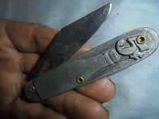 VINTAGE COCA COLA POCKET KNIFE ALL METAL BOTTLE HANDLE