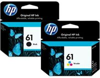 2-Pack HP 61 Combo Ink Cartridges (61 Black and Color)
