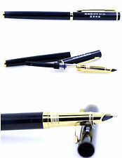 NEW gold and black Hero 9015A fountain pen. Very Fine 4mm nib