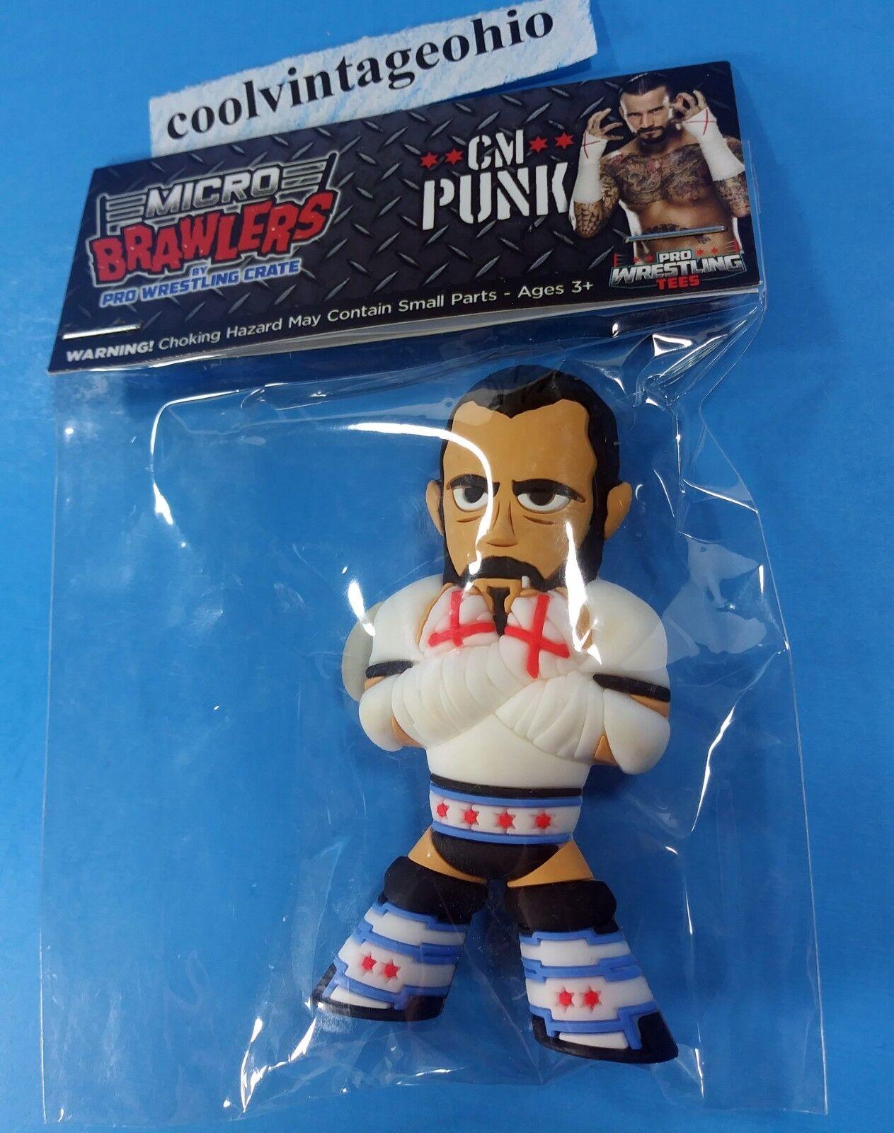 CM Punk Micro Brawlers Wrestling Figure  ROH NJPW NJPW NJPW PWG WWE NXT AEW NEW 5b0797