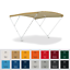 TENDALINO-parasole-ELEGANCE-3-archi-in-alluminio-per-barca-gommone-MADE-IN-ITALY miniatura 1