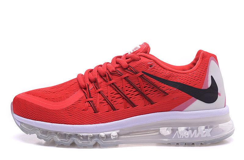 Size 13 Nike Men Air Max 2015 Shoes 698902 600 Crimson Orange White