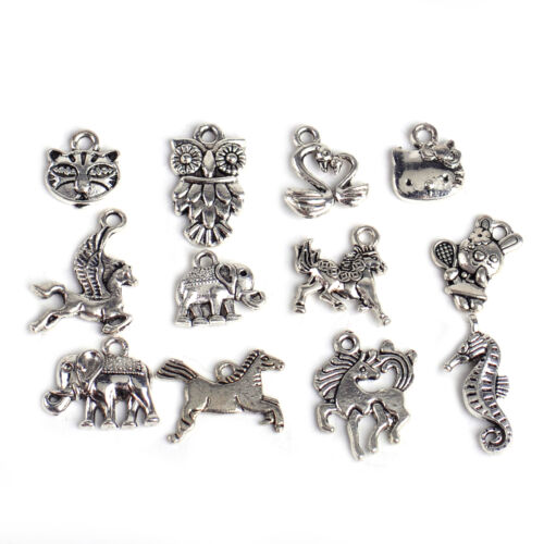 100pc Wholesale Mix Tibetan Silver Pendants Charms Findings Necklace Jewelry DIY