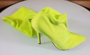 CR-Neon-Yellow-Stretch-Stocking-Pointy-Toe-OTK-Thigh-Boot-High-Heels-5-5-10