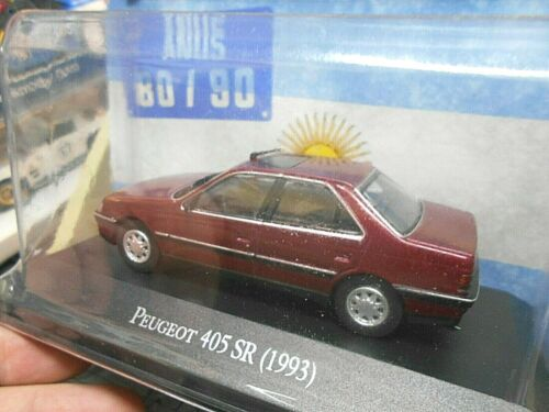 Peugeot 405 Sr Limousine 1993 Dark Red rojo argentina atlas Ixo sp 1:43