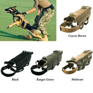 Tactical K9 Dog Military US Police Molle Vest Vlcro Service Canine