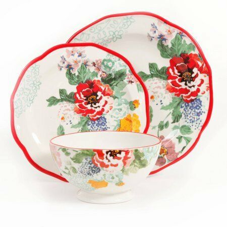 The Pioneer Woman Country Garden 12-Piece Decorated Dinne W