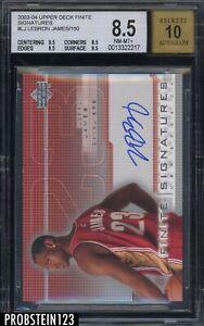 2003-04 UD Finite Signatures LeBron James RC Rookie /150 BGS 8.5 w/ 10 AUTO