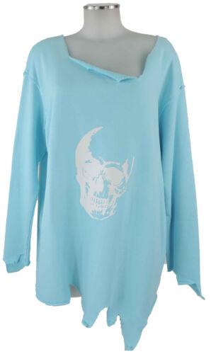 Neu Arlette Mit M Sweater e Sweatshirt Look Kaballo Used Totenkopf Hellblau 42 rzZqr