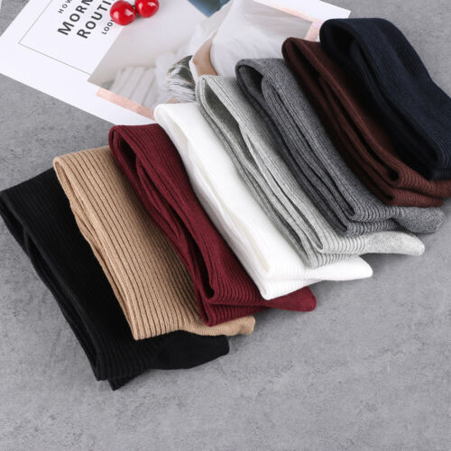 Womens Thigh High Socks Ladies Extra Long Stockings Knitted Cotton Knee Warm UK