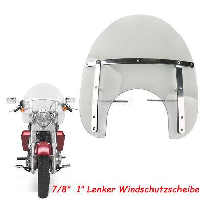 UNIVERSAL WINDSCHILD 7/'/' MOTORRAD WINDSCHUTZSCHEIBE MOTORRADSCHEIBE für Harley