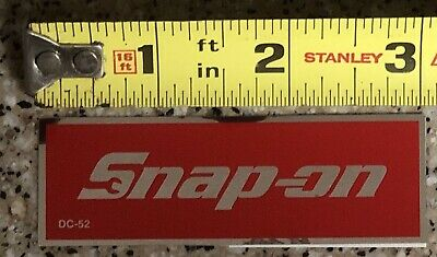 w Chrome Styled Border 3 x 1 Inch Official Licensed Snap On Tools Logo Sticker