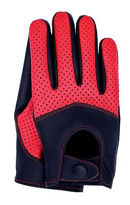 Riparo Men/'s Genuine Leather Half Mesh Driving Gloves