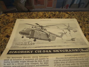 Details about MODEL KIT INSTRUCTIONS SIKORSKY CH-54A SKYRANE REVELL 1969