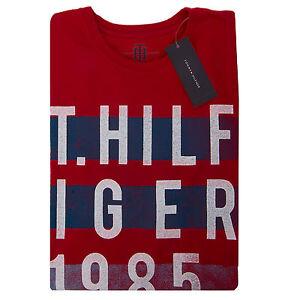 Tommy-Hilfiger-Men-Short-Sleeve-Logo-Crew-Neck-Tee-T-Shirt-0-Free-Ship