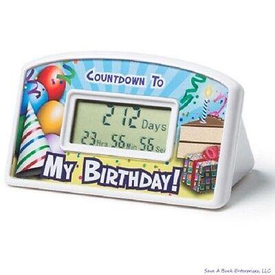 Happy birthday countdown desktop timer clock gag gift kids to adults bigmouth 718856151288 ebay - Birthday countdown wallpaper ...