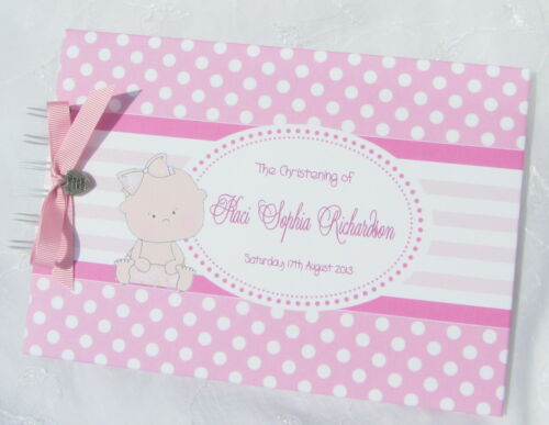 PERSONALISED TWINS CHRISTENING//BIRTHDAY//BABY SHOWER GUESTBOOK// PHOTO BOOK// ALBUM