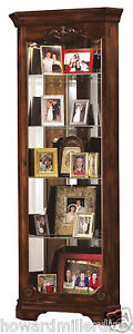 Howard Miller 680-404 Constance - Traditional Cherry Corner Curio Cabinet