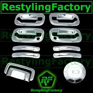 Chevy-Tahoe-Triple-Chrome-4-Door-handle-Passenger-Keyhole-Liftgate-Gas-Cover