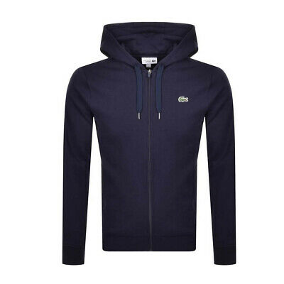 LACOSTE MEN/'S ZIP THROUGH CARDIGAN TRACK TOP IN DARK NAVY //// BNWT ////