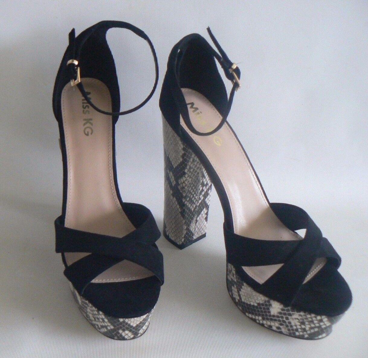 MISS KG Fizz Snake Platform Sandals UK Size 7 - 8 NEW