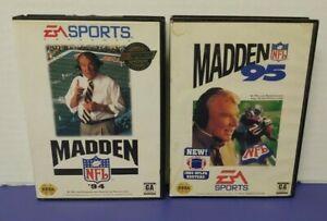 John-Madden-NFL-Football-94-95-EA-Sega-Genesis-Working-Tested-2-Game-Lot