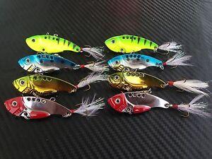 8X-PFS-Fishing-Switchblade-Blade-VIBE-VIB-Metal-Lures-55mm-12g-Bream-Bass