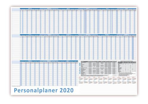 Urlaubsplaner DIN B1 2020 Personalplaner bis 22 Mitarbeiter 100x70cm