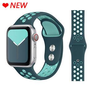 Correa Deportiva De Silicona Transpirable Para Apple Watch Pulsera Iwatch 5 4 3 Ebay