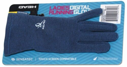 Head Digital Touch Athletic Running SensaTec Gloves Heather Blue   Sz M  L