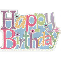 Pictura Embellished Birthday Card - Happy Birthday - Pc-50639