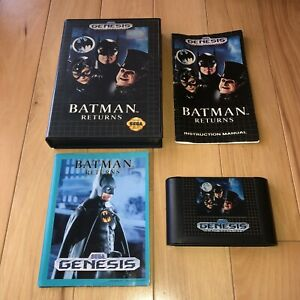 VG COND Batman Returns Sega Genesis CIB Complete Video Game Tested Works Fun