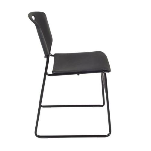 "84"" x 24"" Kobe Mobile Training Table- Cherry & 3 Zeng Stack Chairs- Black 843532064627"