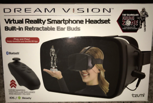 Virtual-Reality-NWT-40-Smartphone-Headset-Bluetooth-New-in-Box-By-Dream-Vision