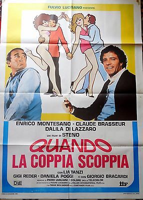 manifesto movie poster 2F Quando la coppia scoppia steno montesano breasseur | eBay