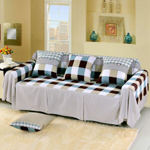 Details about Modern Cotton Blend Slipcover Chair Sofa Couch Cover  Protector for 1 2 3 4Seater