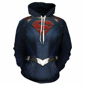 Anime-Superman-Hoodie-Sweatshirt-Pullover-Sport-Jacket-Cosplay-Costume-Unisex