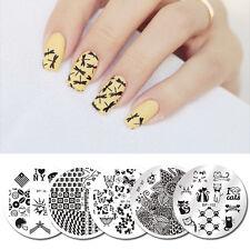 5Stk/set BORN PRETTY Nagel Stamping Platte Schablone Nail Art Plate Katze Pfote