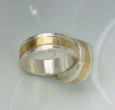 Silber 999 6 Mm Diamant 0,06 Carat Bequem Zu Kochen Gold 585 Eheringe 8 Mm U Partnerringe