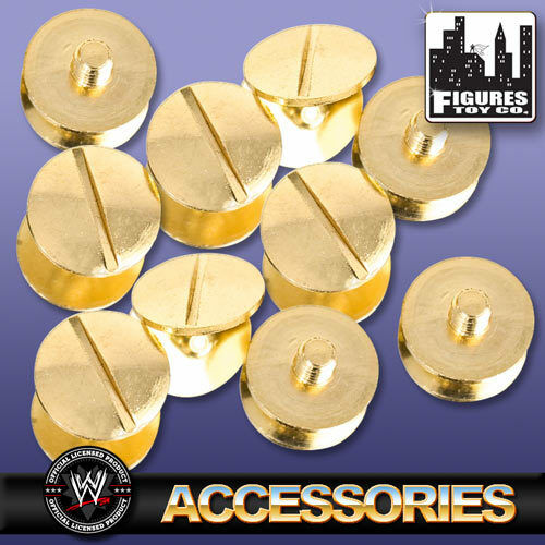 Set Of 10 Gold Replica Belt Screws for WWE Wrestling Belts