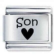 SON HEART - Daisy Charms by JSC Fits Classic Size Italian Charm Bracelet
