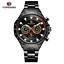 Automatik-Multifunktion-Herren-Uhr-Blau-Silber-Farben-Edelstahl-Armband-Uhren Indexbild 9
