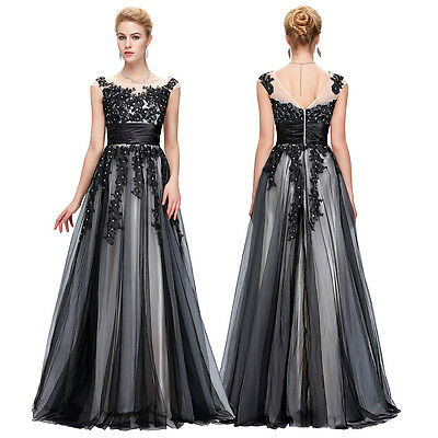 UK Long Bridesmaid Formal Celebrity Ball Gown Party Cocktail Evening Prom Dress