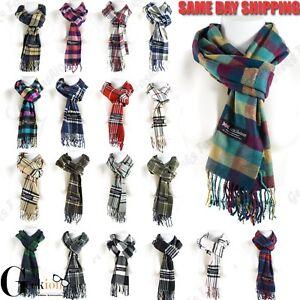 Women-Men-Scotland-Made-100-Cashmere-Plaid-Scarf-Winter-Warm-Wool-Wrap-Scarves