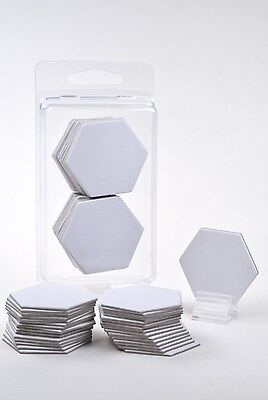 """x30 Blank 1.5/"""" Square Board Game Chits Tiles Counters Markers DIY D/&D"""