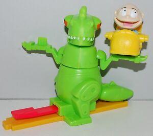 Tommy Reptar Rider Burger King Toy Figure Rugrats Paris Reptarland